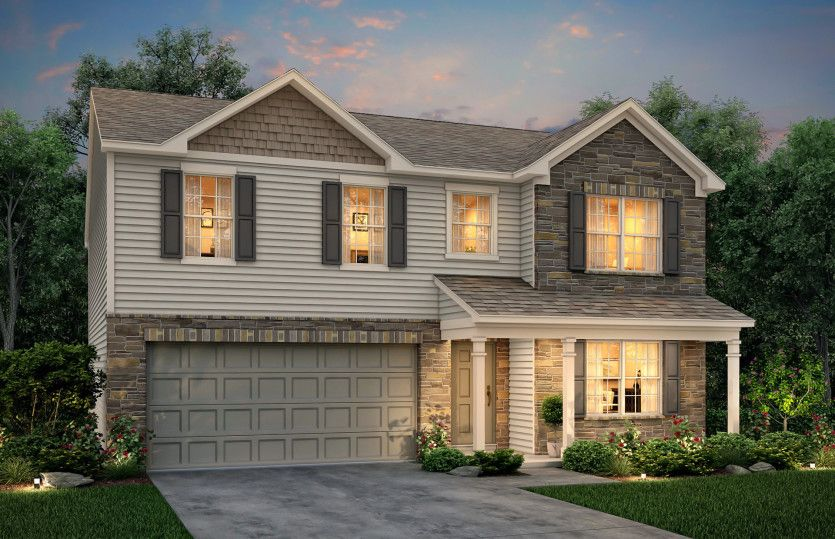 Exterior featured in the Hampton By Centex Homes in Nashville, TN
