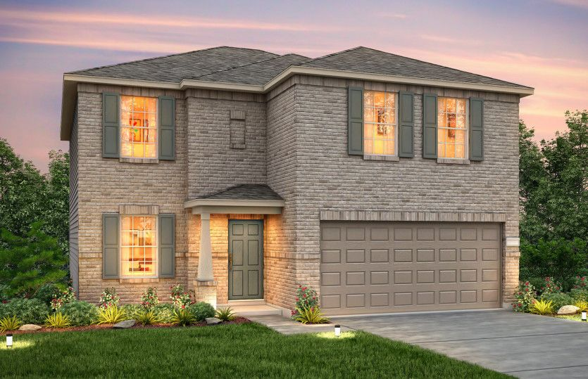 Exterior featured in the Granville By Centex Homes in Austin, TX