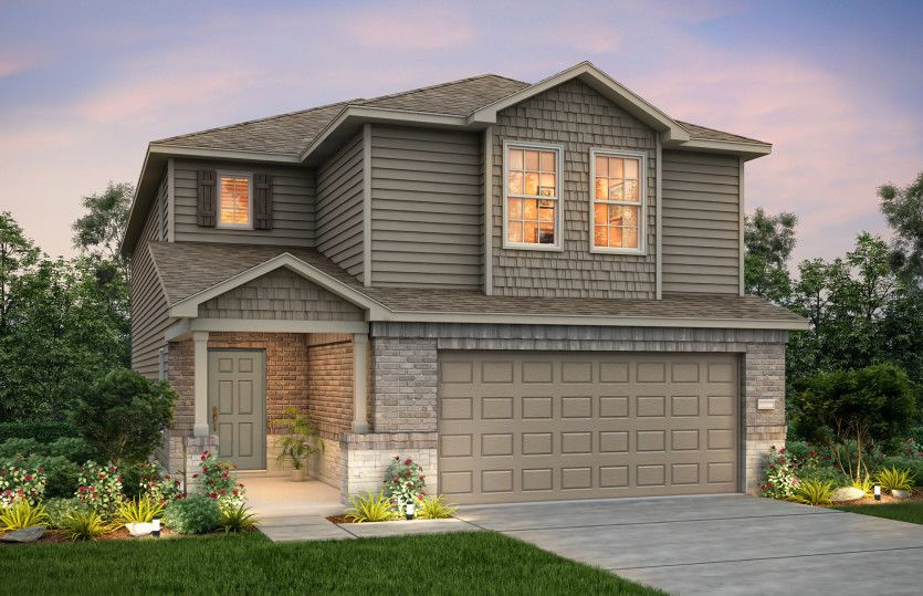 Exterior featured in the Springfield By Centex Homes in Austin, TX