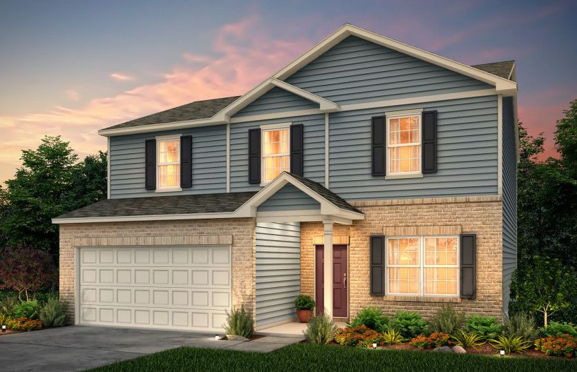 Exterior featured in the Aspire By Centex Homes in Atlanta, GA