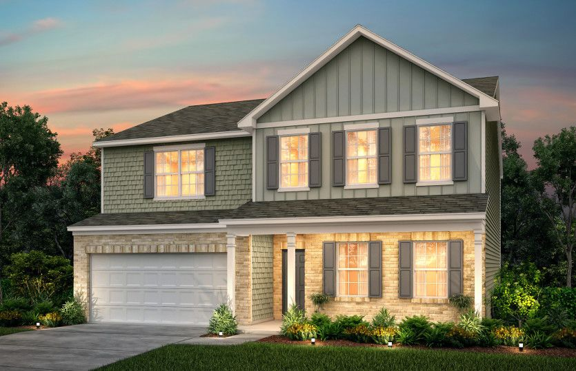 Exterior featured in the Mitchell By Centex Homes in Atlanta, GA