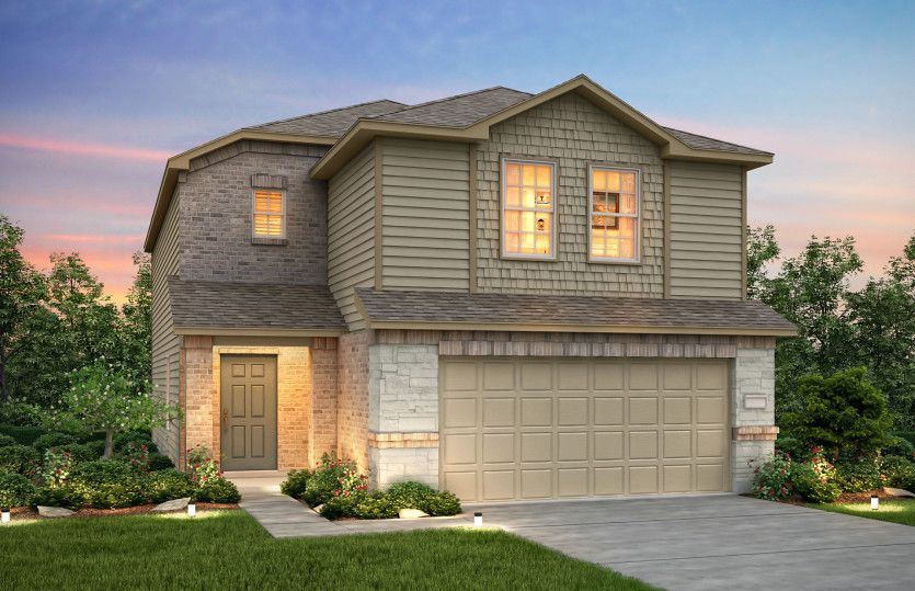Exterior featured in the Pierce By Centex Homes in Austin, TX