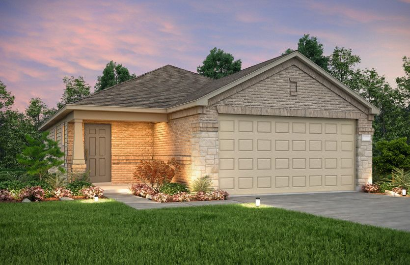 Exterior featured in the Taft By Centex Homes in Austin, TX