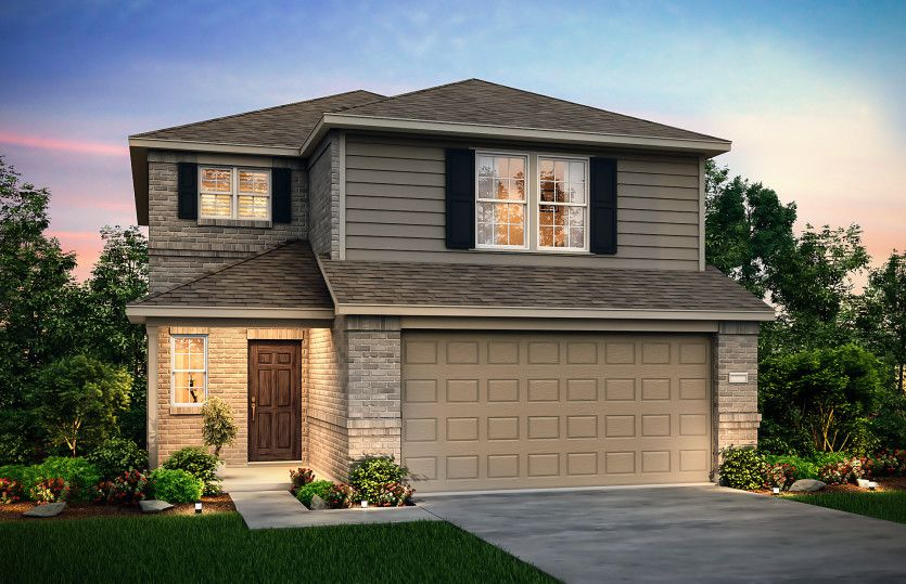 Exterior featured in the Lincoln By Centex Homes in Sherman-Denison, TX