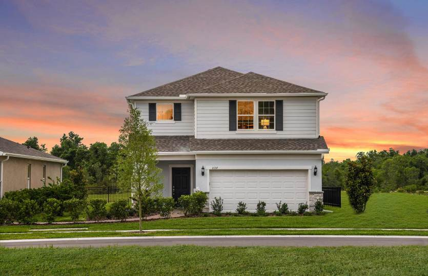 Exterior featured in the Seamist By Centex Homes in Orlando, FL