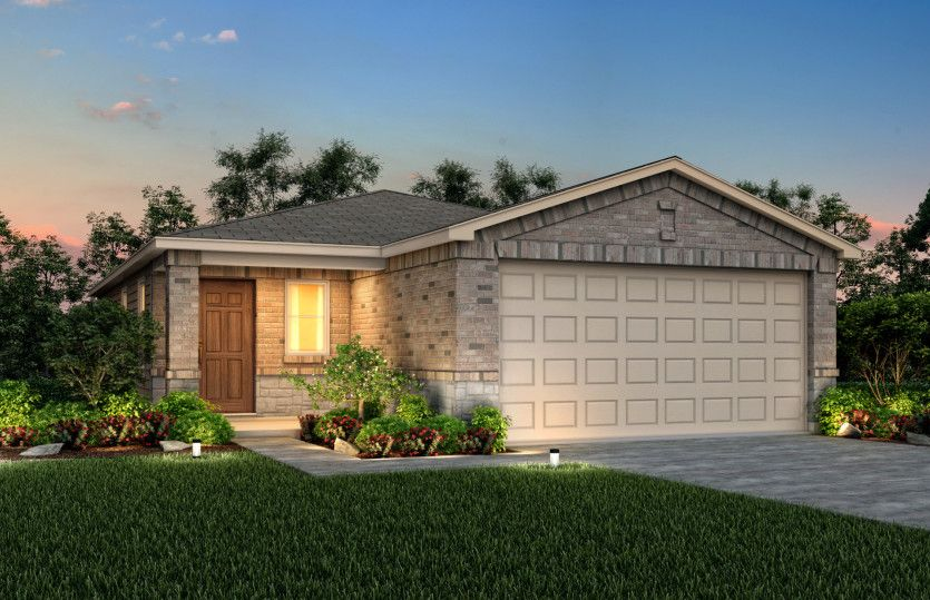 Exterior featured in the Taft By Centex Homes in San Antonio, TX