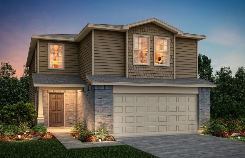 Exterior featured in the Springfield By Centex Homes in San Antonio, TX