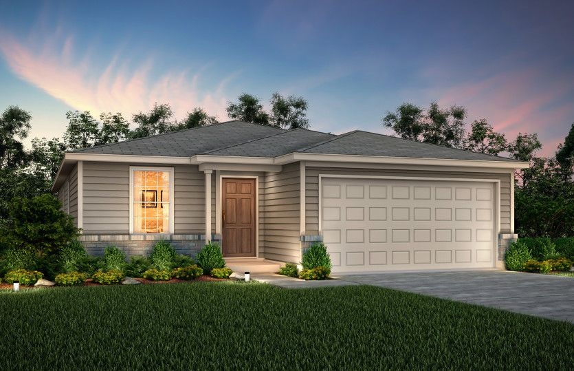 Exterior featured in the Independence By Centex Homes in San Antonio, TX
