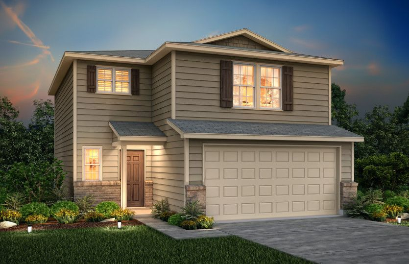 Exterior featured in the Lincoln By Centex Homes in San Antonio, TX