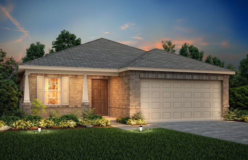 Exterior featured in the Hewitt By Centex Homes in San Antonio, TX
