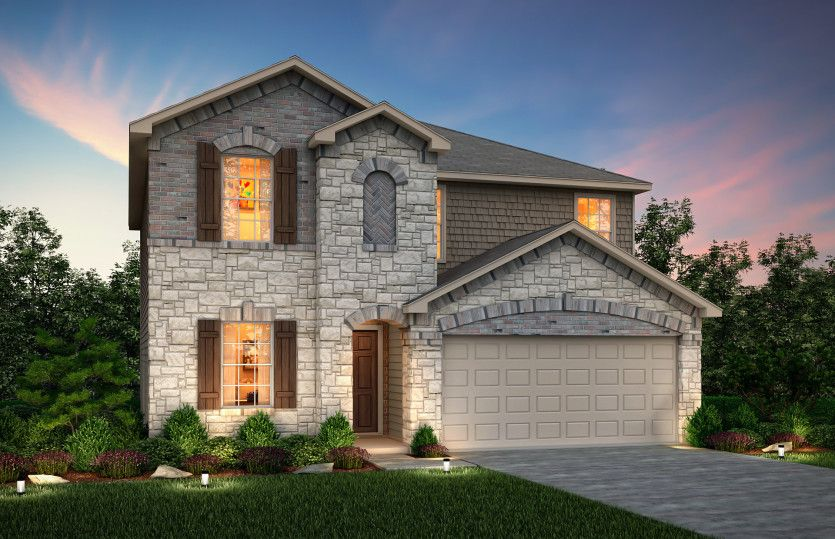 Exterior featured in the Sandalwood By Centex Homes in San Antonio, TX