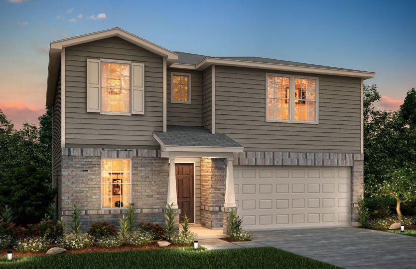 Exterior featured in the Kisko By Centex Homes in San Antonio, TX