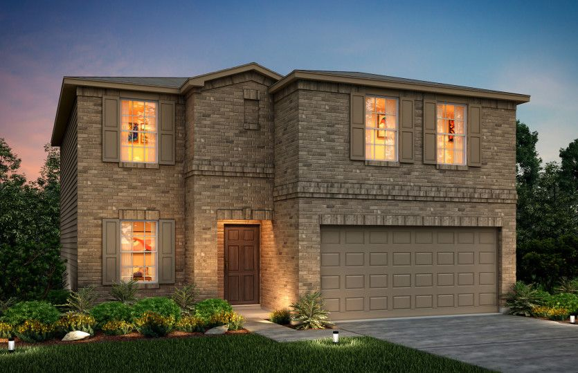 Exterior featured in the Granville By Centex Homes in San Antonio, TX