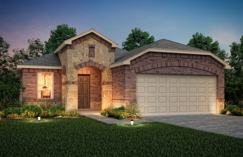 Exterior featured in the Becket By Centex Homes in San Antonio, TX