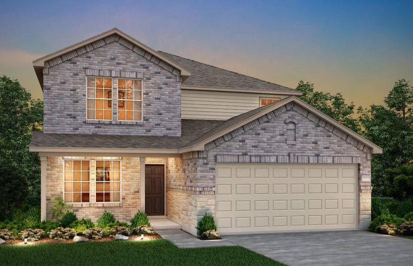 Exterior featured in the Mesilla By Centex Homes in Fort Worth, TX