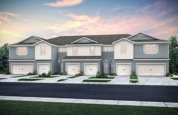 Evergreen:Townhome Exterior Rendering