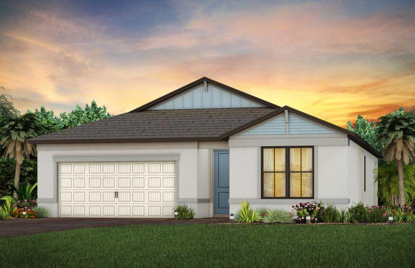 Exterior featured in the Cedar By Centex Homes in Sarasota-Bradenton, FL