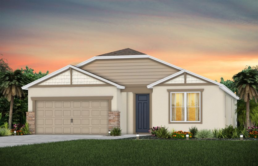 Exterior featured in the Spruce By Centex Homes in Orlando, FL