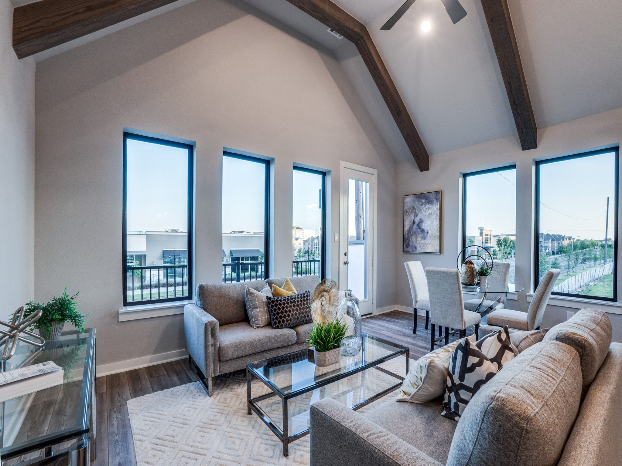 Living Area featured in the Mulholland By Centre Living Homes in Dallas, TX