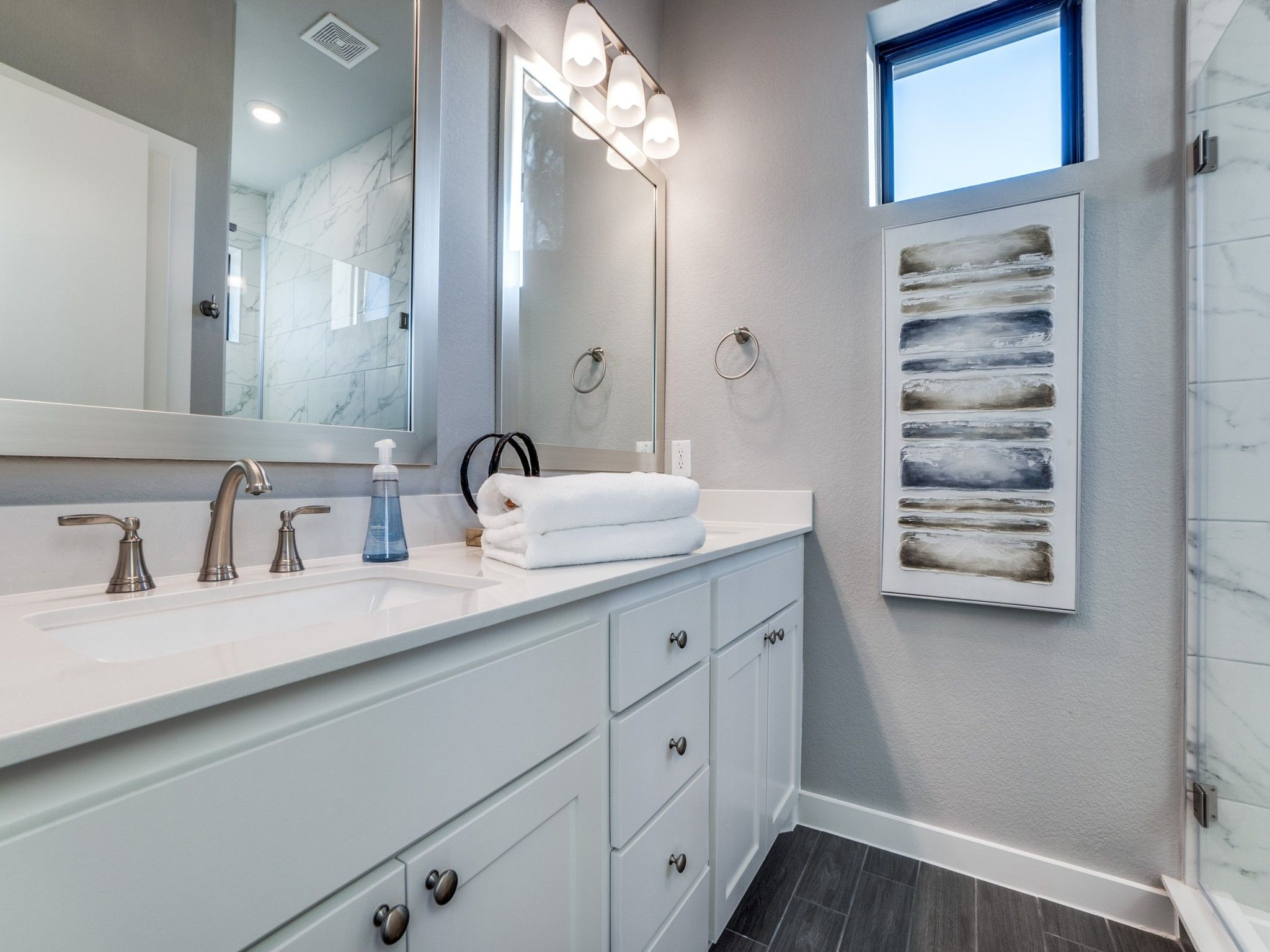 Bathroom featured in the Mulholland By Centre Living Homes in Dallas, TX
