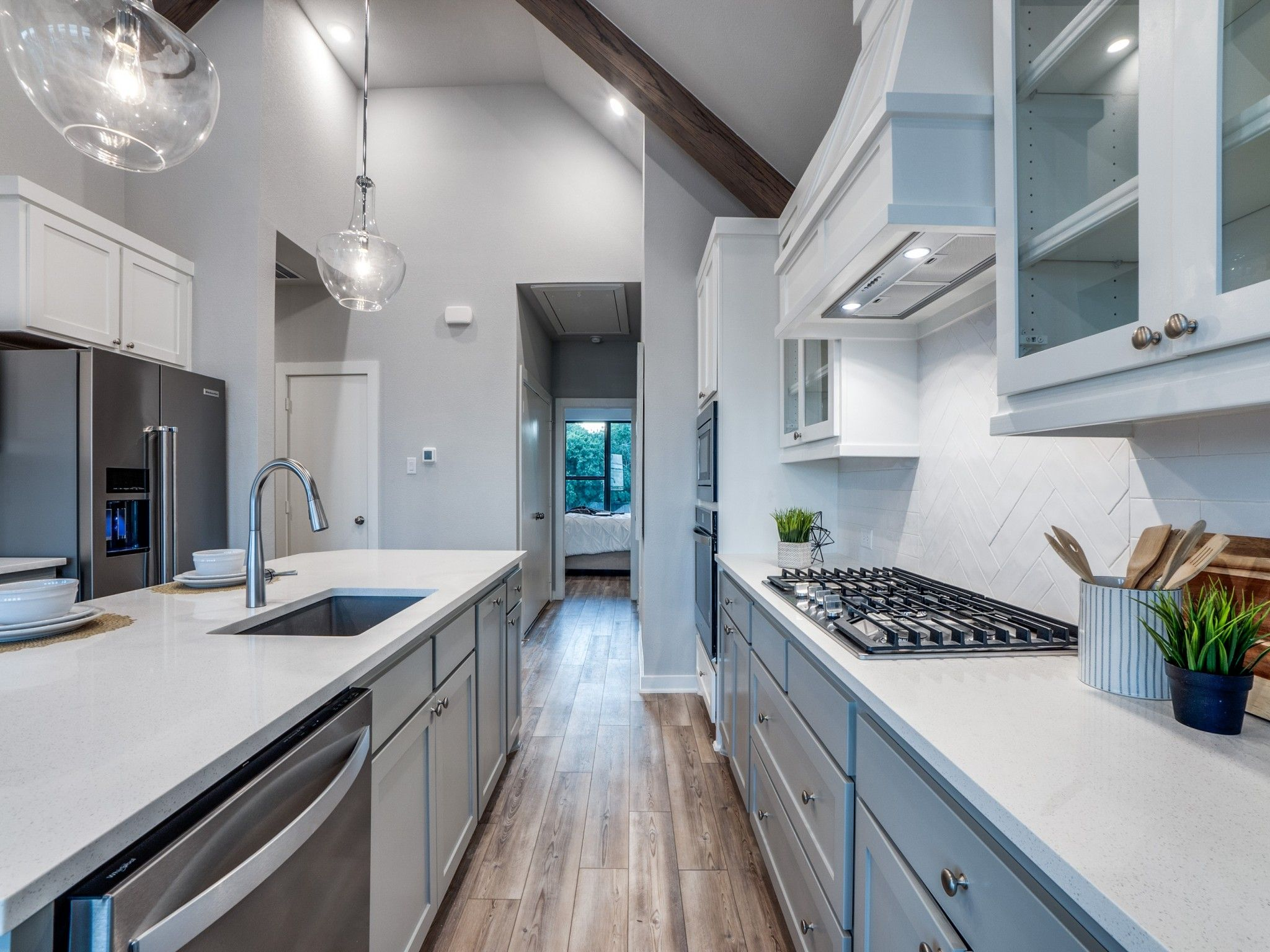 Kitchen featured in the Mulholland By Centre Living Homes in Dallas, TX