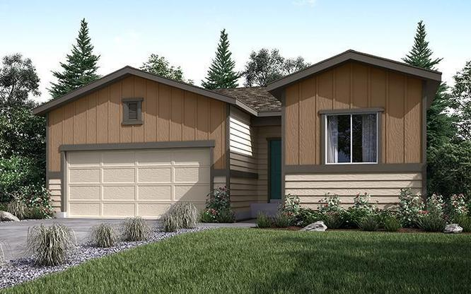 Exterior Rendering of Residence 36204 at  Autumn Valley new homes in Dacono Colorado by Century Comm