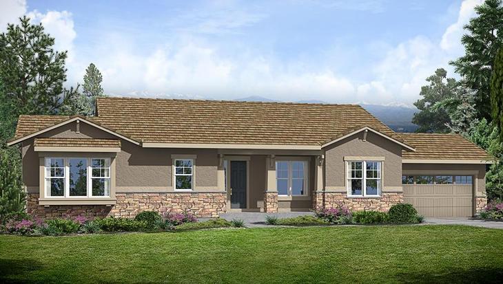 Vista Ridge - Residence 8010-A:Residence 8010 Elevation A
