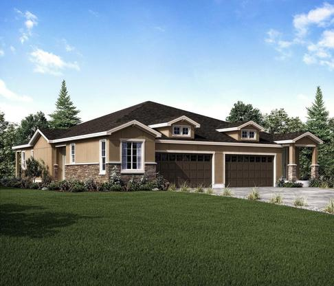 The Crestview plan at Wild Grass at Rockrimmon in Colorado Springs by Century Communities