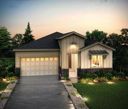 Exterior rendering of Residence 40122 at Skyline Ridge at Castle Pines by Century Communities