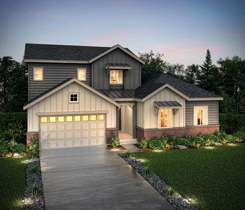 Exterior rendering of 50351 at Skyline Ridge at Castle Pines by Century Communities