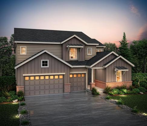 Exterior rendering of 50255 at Skyline Ridge at Castle Pines by Century Communities