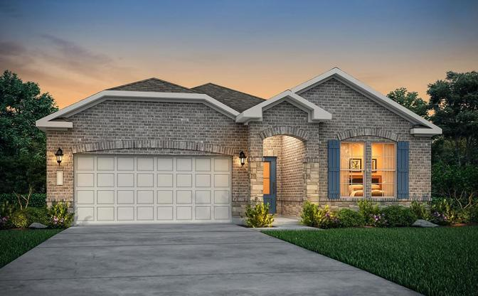 Leander one story floor plan available at Woodland Lakes in Huffman
