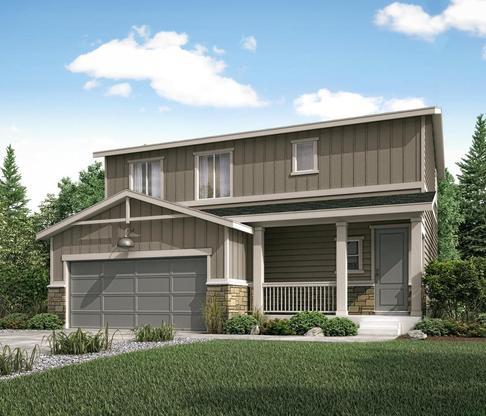 Residence 36203 elevation B at Meadowbrook Crossing in Colorado Springs by Century Communities:Meadowbrook - Residence 36203 - B
