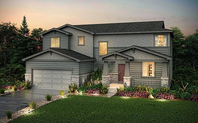 Exterior Rendering of Residence 49202 at Anthology in Parker Colorado by Century Communities