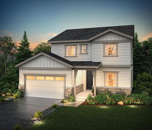 Rendering of Residence 40222 elevation D at Skyline Ridge at Castle Pines by Century Communities:Skyline Ridge 40222 D
