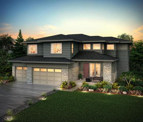 Rendering of 60252 Elevation C at Skyline Ridge at Castle Pine by Century Communities:Skyline Ridge_60252_C