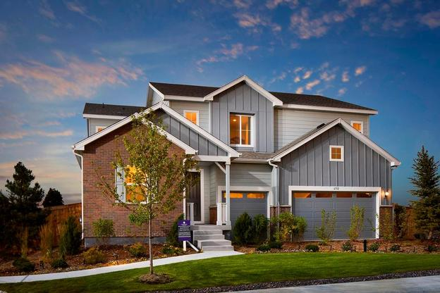 Exterior rendering of single family new home at Mayfield in Thornton by Century Communities
