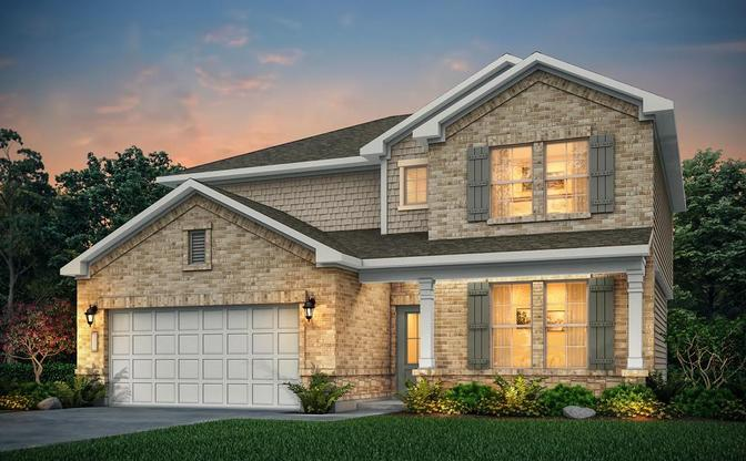 Chandler floor plan at Woodland Lakes in Huffman