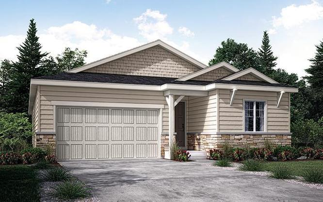 Exterior rendering of Residence 40120 at Mayfield in Thornton by Century Communities