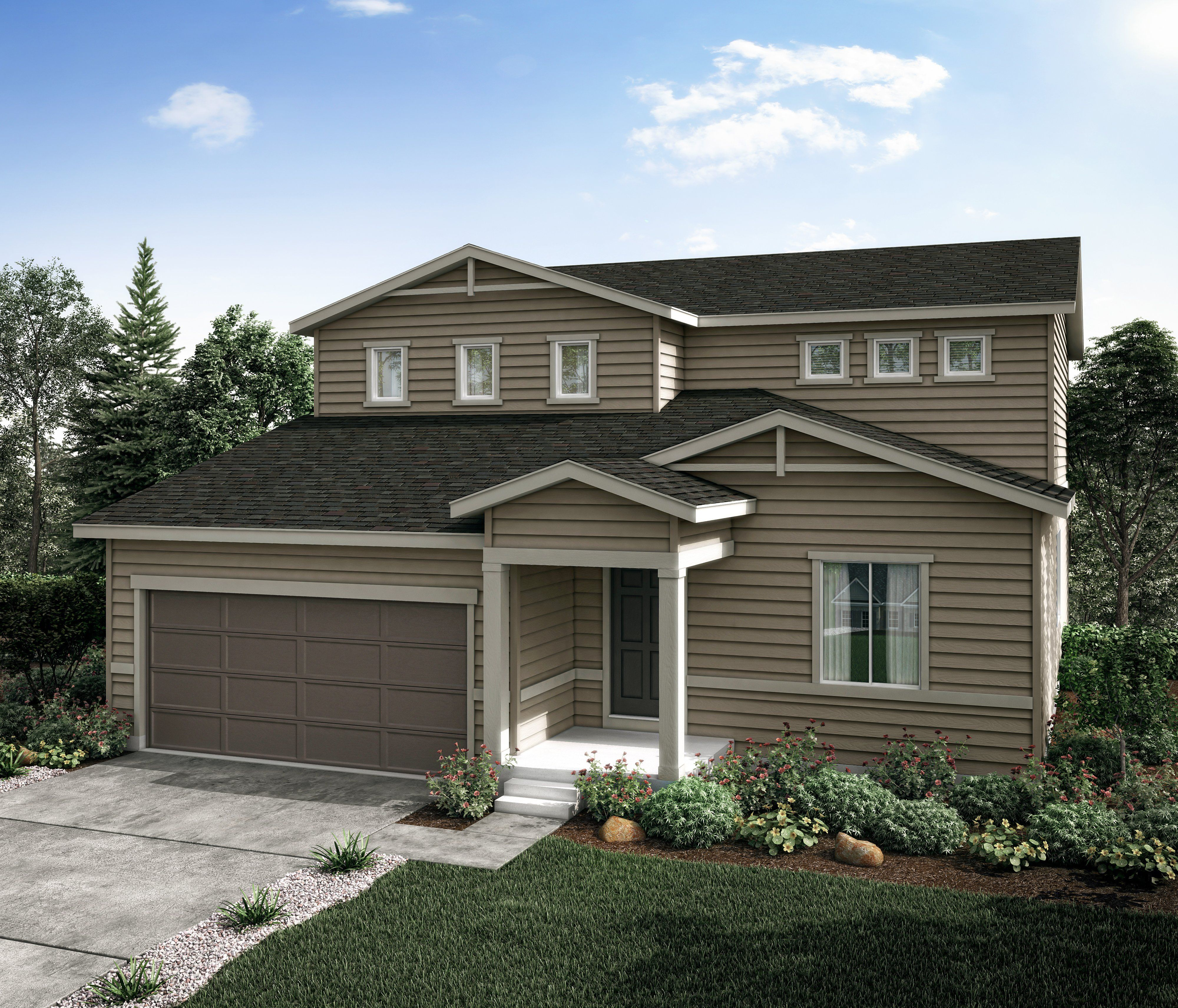Exterior featured in the Aspen (Residence 39209) By Century Communities in Greeley, CO