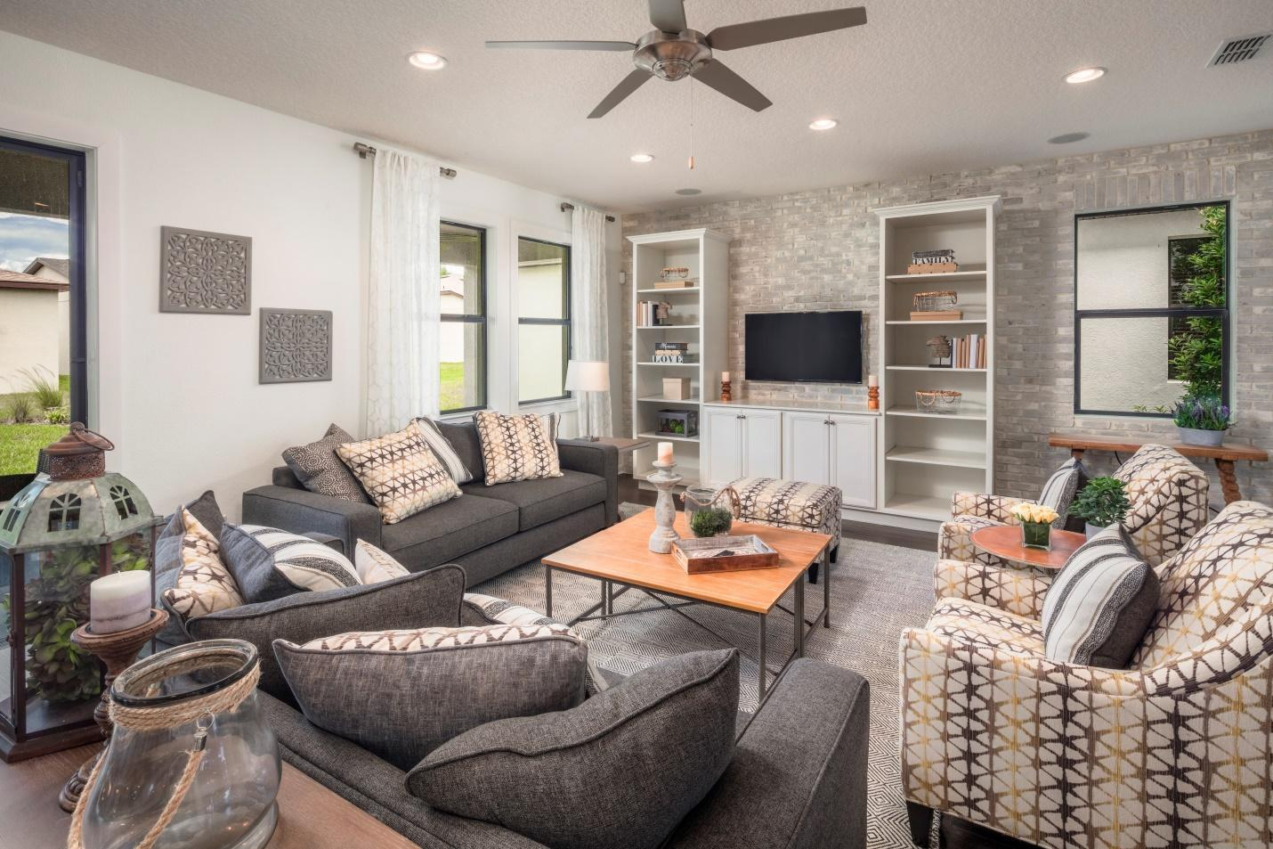 Living Area featured in the Siena By Century and Craft Homes in Orlando, FL