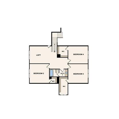 Floor Plan:Middleton Second Floor