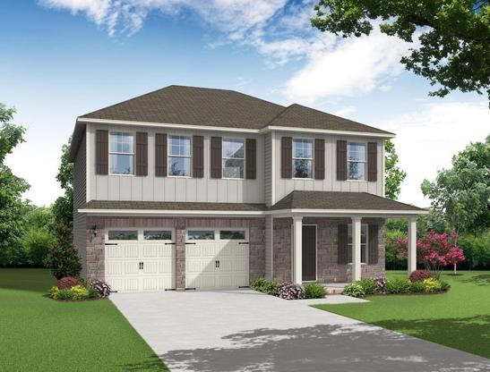 Two story, 3 bedroom home design offering an open kitchen and tremendous flex space.