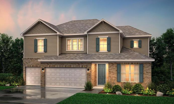 Two story home with 4 bedrooms, loft and private owner's suite.