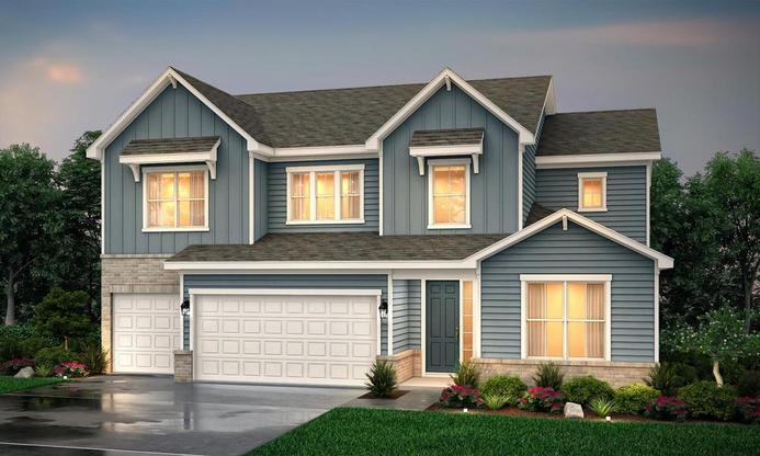 Two story home with 4 bedrooms, loft and private owner's suite and three car garage.