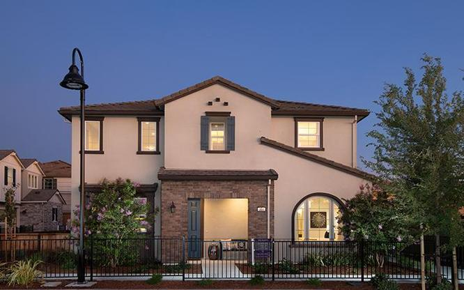 The Blanc plan exterior at Enclave at Mission Falls in Fremont by Century Communities