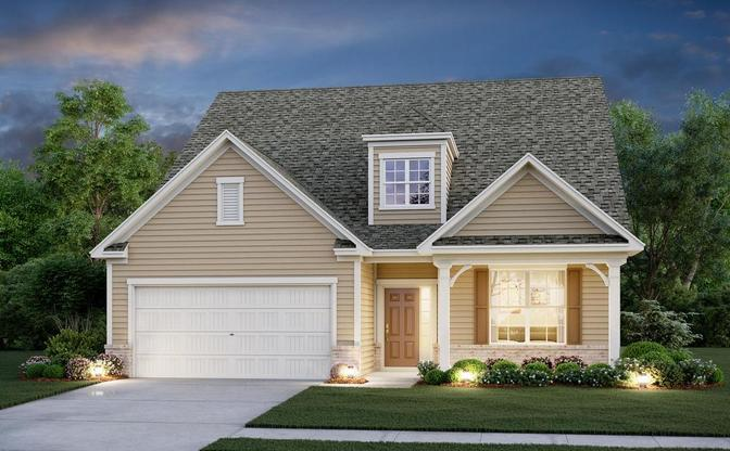 Two story, 4 bedroom home design with main level owner's suite.