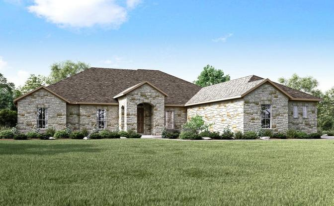The Carolina rendering, elevation A, specific to Reagan's Overlook, an acreage community in Lean:Elevation A