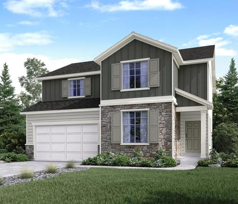 The Powell Elevation B at The Views at Jordan Meadows in West Valley by Century Communities