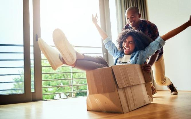 Couple Moving Into Their New Home at Solera